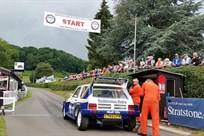 Jimmy McRae on the startline in the Prodrive Metro 6R4. Photo. Mark Constanduros